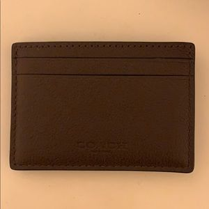 Coach Men's money clip card holder